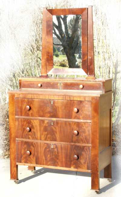 A N Excellent Example Of An Empire Chest Of Drawers Made Around 1840