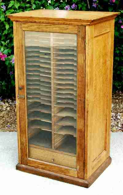 Early 20th Century Record Display Case